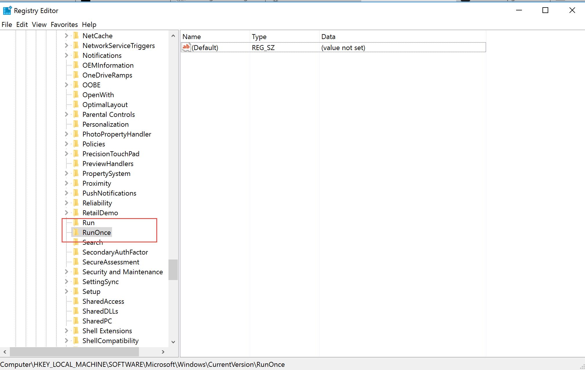 89400bd5cce Configure a RunOnce task on Windows