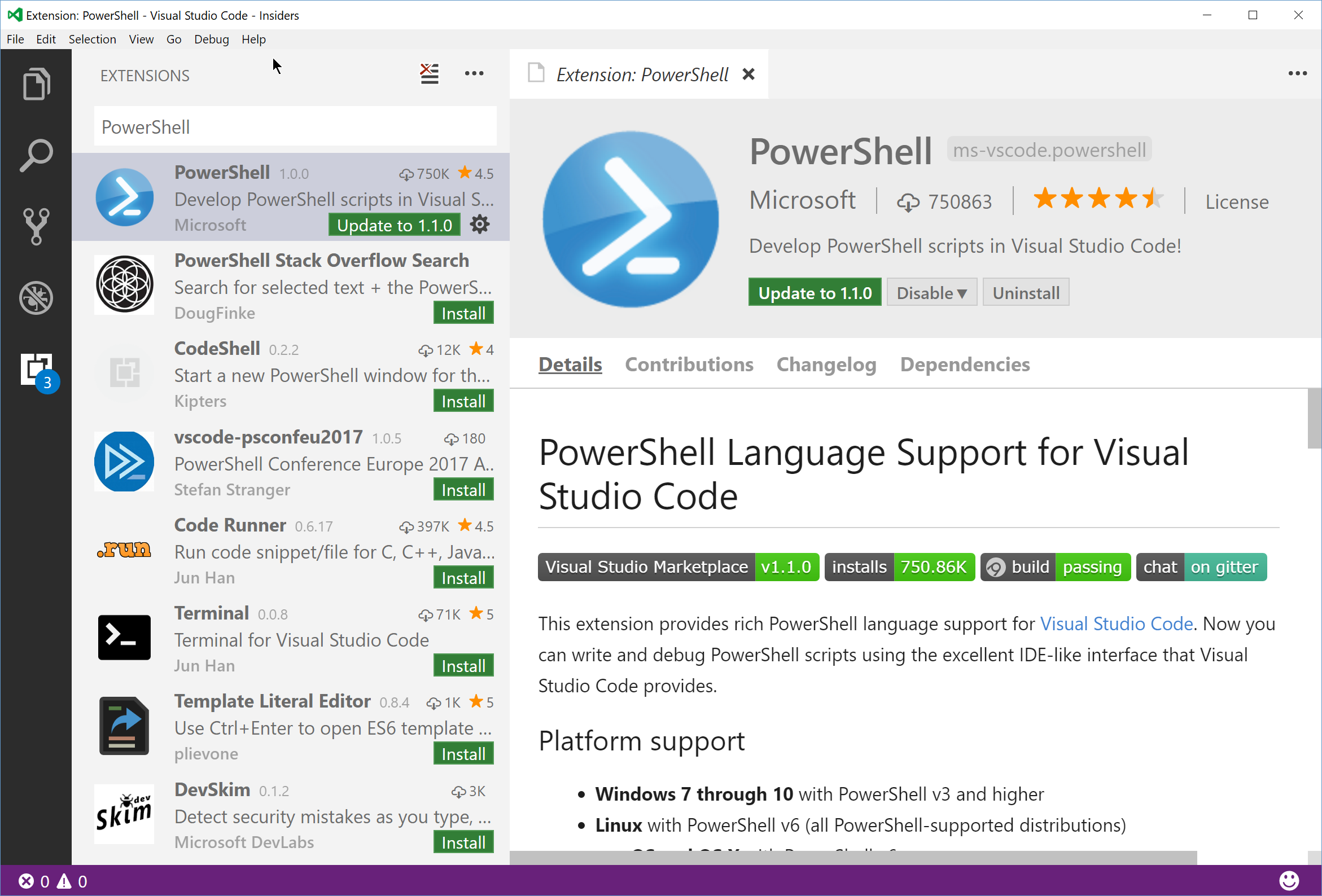 A new Powershell experience with Visual Studio Code